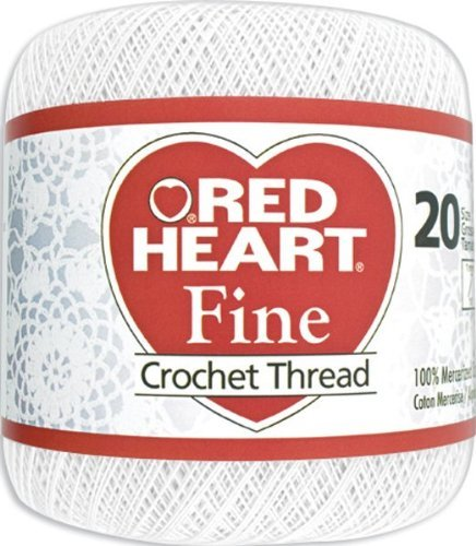 Red Heart Fine Crochet Thread -White by Coats: Crochet & Floss by Coats Crochet (Image #1)