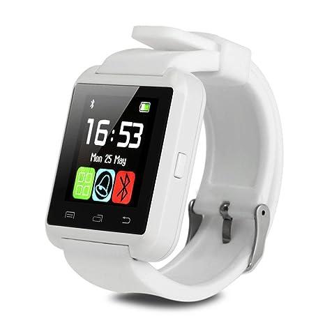 Bluetooth reloj inteligente con cámara para iPhone Android IOS Samsung LG HTC_White: Amazon.es: Oficina y papelería