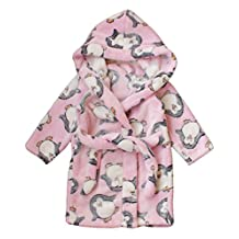 Children's Robe Kids Cartoon Flannel Bathrobe Kids Polka Dot Sleepwear
