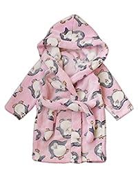Children's Robe Kids Cartoon Flannel Bathrobe Kids Polka Dot Sleepwear