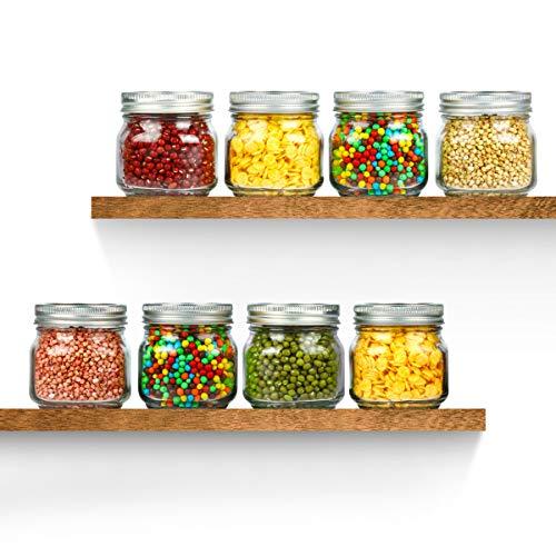 KAMOTA Mason Jars 8OZ With Regular Silver Lids and Bands, Ideal for Jam, Honey, Wedding Favors, Shower Favors, Baby Foods, DIY Magnetic Spice Jars, 24 PACK, 30 Whiteboard Labels Included by KAMOTA (Image #6)