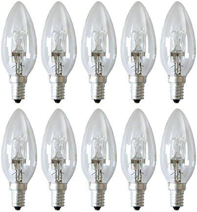 55W E27 klar dimmbar warm Glühlampe 2000h 10 x Eco Halogen Glühbirne 42W = 60W