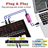 FORE MIDI to USB Interface MIDI Cable Adapter with