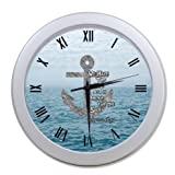 Custom Christian Bible Verse We Have This Hope As an Anchor for the Soul Hebrew 6:19 Wall Clock