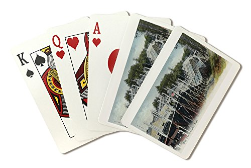 Sign City Worcester (Worcester, Massachusetts - View of White City (Playing Card Deck - 52 Card Poker Size with Jokers))