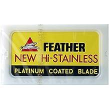 100 Feather Razor Blades NEW Hi-stainless Double Edge