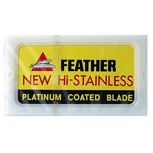 100 Feather Razor Blades NEW Hi-stainless Double Edge