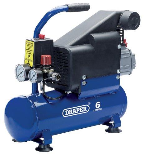 DRAPER 6L 230 V 0,75 kW compresor de aire - Características:, 0,75 kW (1HP), ...