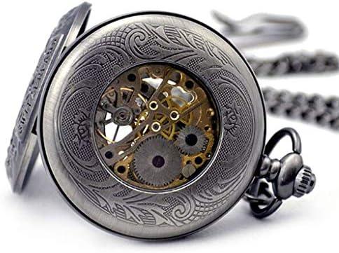 Migliore orologio da taschino meccanico manuale da uomo retrò catena regalo