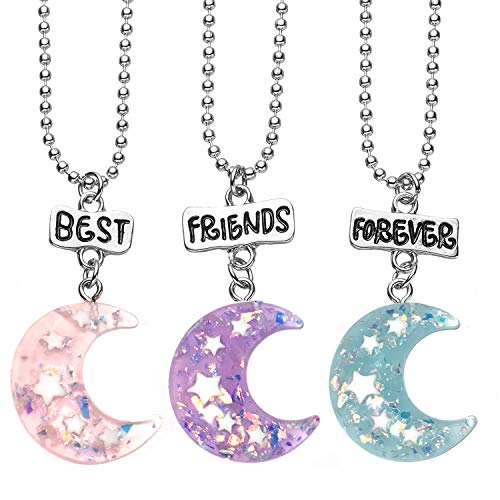 3 Packs Best Friends Forever Kids Children Resin Pendant Necklace - Necklaces 3 Set Best Of Friend