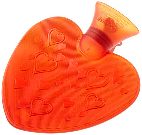 Shaped Heart Water (Transparent Heart Shaped Hot Water Bottle- Made in Germany by Fashy)