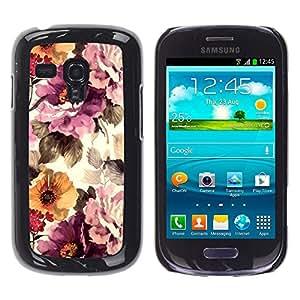 For Samsung Galaxy S3 III MINI (NOT REGULAR!) / I8190 / I8190N Case , Vintage Vignette Sunshine - Diseño Patrón Teléfono Caso Cubierta Case Bumper Duro Protección Case Cover Funda