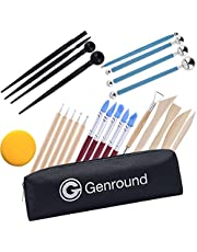 Polymer Clay Tools, Genround Modeling Clay Sculpting Tools Pottery Tools incl Dotting Tools, Ball Stylus, Silicone Tool for Clay Modeling