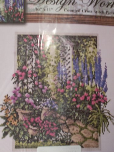 Design Works Counted Cross Stitch kit - Floral Trellis