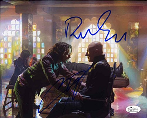 X-Men Cast Stewart and McAvoy Signed 8x10 Photo Certified Authentic JSA COA