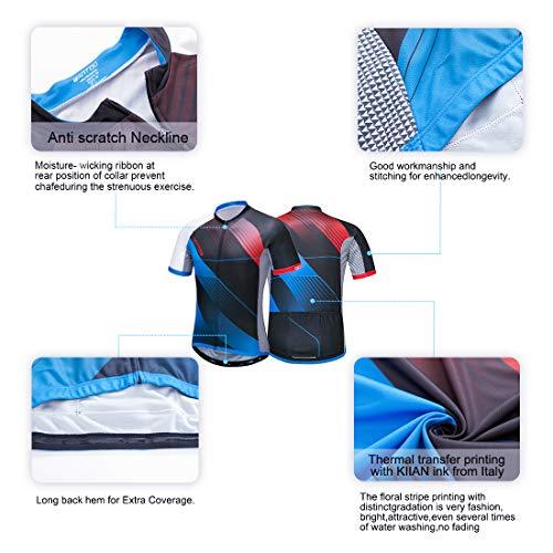 Wantdo Bike Jersey Men s Short Sleeve Cycling Jersey Biking Tops Road  Mountain Shirt Full Zip Bicycle 21faa17d9