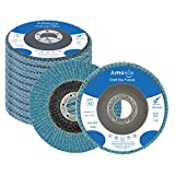 """amoolo Flap Disc 4-1/2 inch 7/8"""" Zirconia Angle Grinder Sanding Disc 40/60 Grit Grinder Disc T29-10 Pack"""