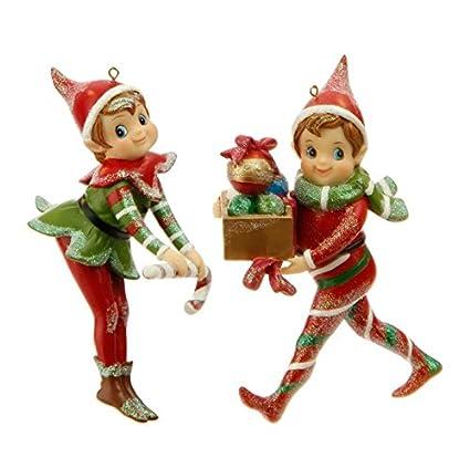 """Red & Green Elf Ornaments 5"""": ... - Amazon.com: Red & Green Elf Ornaments 5"""