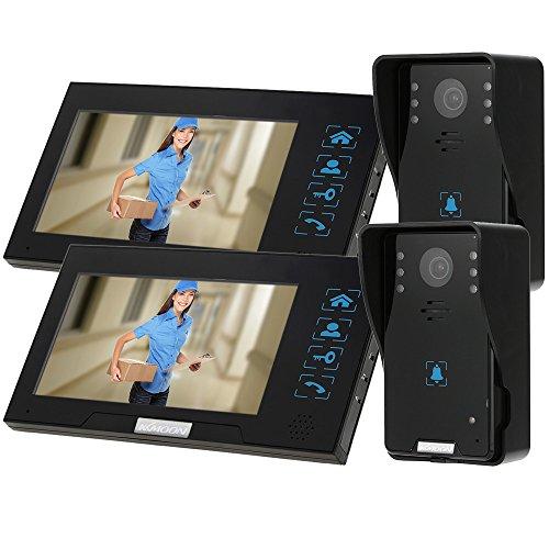 "KKmoon 7"" Video Door Phone Intercome Doorbell Touch Button Remote Unlock Night Vision Rainproof Security CCTV Camera Home Surveillance TP02K22 -  SRU9907728201950CY"