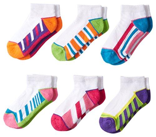 Jefferies Socks Big Girls Tech Sport Low Cut Socks (Pack of 6)