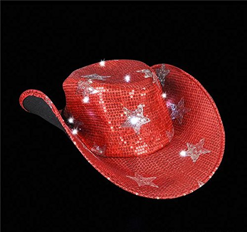 ADULT LIGHT-UP STAR COWBOY HAT, Case of 24 by DollarItemDirect