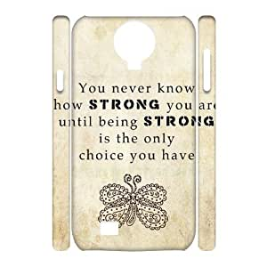 Quotes Customized 3D Cover Case for SamSung Galaxy S4 I9500,custom phone case ygtg529782