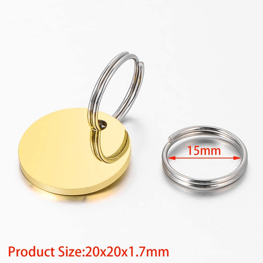 Pet ID Tag Dog and Cat Personalized Round Shapes and Colors to Choose from
