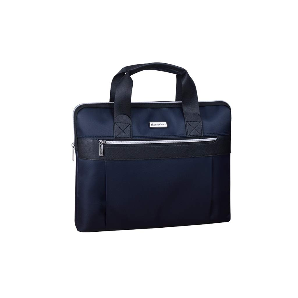 Men's File Bag Computer Bag Thick Oxford Cloth Waterproof Business Zipper Bag 38x31x7CM (Size : 38x31x7CM) by QSJY File Cabinets