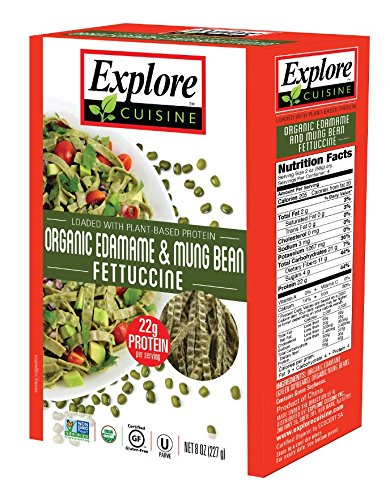 Explore Cuisine Fettuccini, Organic Edamame & Mung Bean, 8 Oz