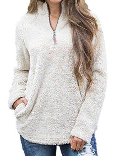 Womens Quarter Zip Fleece - 6