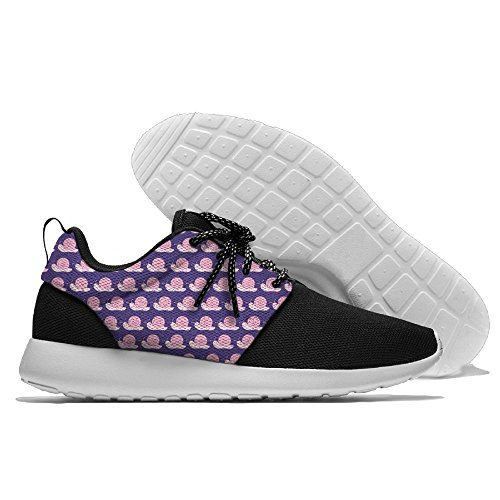 Purple Snail Pattern Men's Mesh Running Shoes Shoes Running Sneakers Breathable Athletic Workout Fitness Sports Shoes Trainers Parent B078G34CGK 3641e0