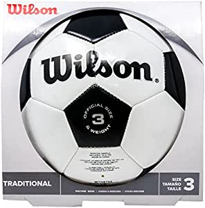 Wilson Traditional Soccer Ball lbDjtw, 2 Pack(Size 3)