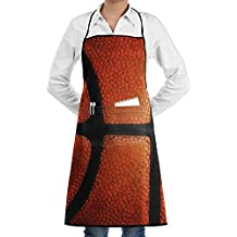 Bigkhhk Unisex Basketball Material Adjustable Straps Kitchen Apron Chef Bib Apron With Pockets Idea For Cooking,Crafting,Gardening,BBQ
