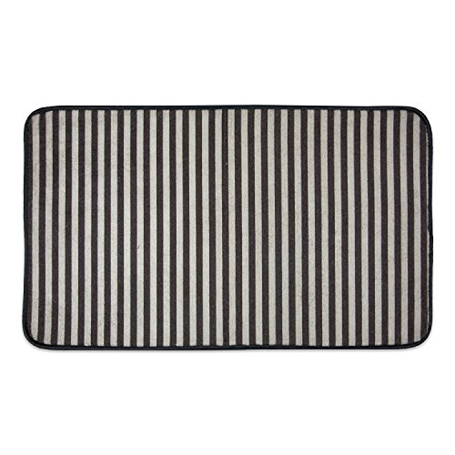 DII Bone Dry Non Slip Stripe Pet Cage Mat, Absorbent Non Scratch Under Cage Mat for Samll, Medium, Large Dogs and Cat, Perfect for Kennels or Crates