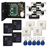 Complete TCP/IP Access Control Panel System Kit for Four Door with Keypad Reader +110V Power Supply Box +1000kg force Electric ANSI Strike Lock+Exit+Key Fobs