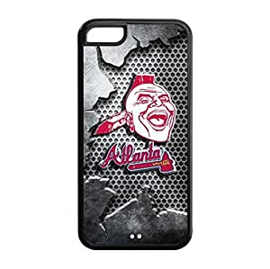 Perfectly Designed iPhone 5C TPU Cover Case with Baseball Atlanta Braves Design Background-by Allthingsbasketball