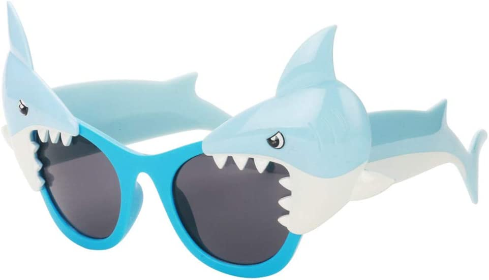 Ocean Line Shark Sunglasses – Beach Party Favors, Novelty Shades, Party Toys, Funny Costume Accessories Kids & Adults