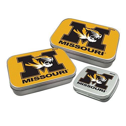 Worthy Promotional NCAA Missouri Tigers Decorative Mint Tin 3-Pack with Sugar-Free Mini Peppermint Candies
