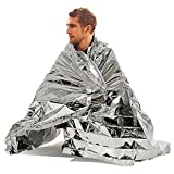 First Aid Emergency Blanket OKCSC(TM) Foil Reflective thermal Suitable for Camping Hiking Earthquake Keep Warm Rescue Photogragh Reflection Blanket