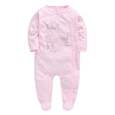 Bebé Niñas Peleles Pijama Algodón Mamelucos Tuta Monos de Manga ...