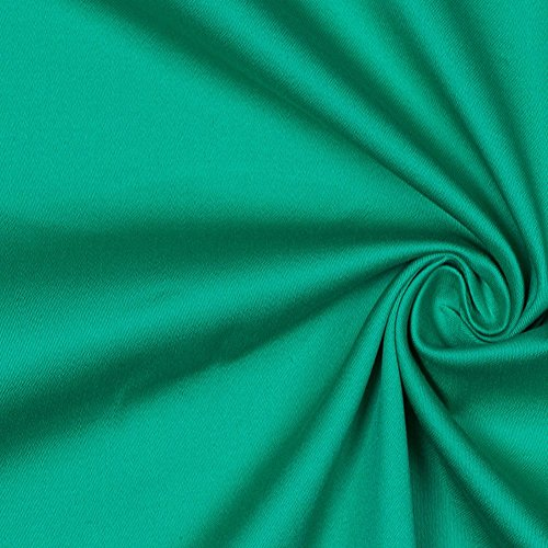 Deep Mint Stretch Cotton Sateen (Cotton Stretch Sateen Fabric)