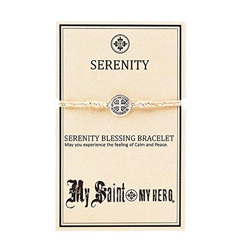 My Saint My Hero Serenity Blessing Bracelet Metallic/Silver Plated Medal