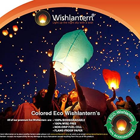 Amazon.com: ECO Colored wishlantern® (Pack de 10): Home ...