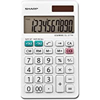 Sharp EL-377WB Business Calculator, White 2.75