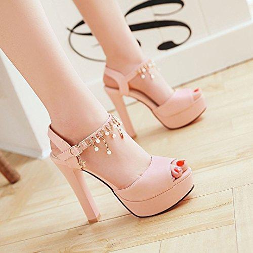 alto e per le scarpe alto con tacchi Tacchi a Pink tacco YMFIE spillo con tacco alti donne alti O66qS0
