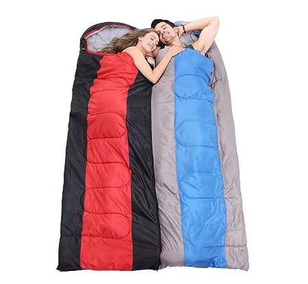 SZ JIAOJIAO Bolsa de Dormir de luz de Envoltura Gruesa Impermeable cálido Impermeable algodón Sucio Saco de Dormir-9 a 10 ° C para el Turismo de Camping ...