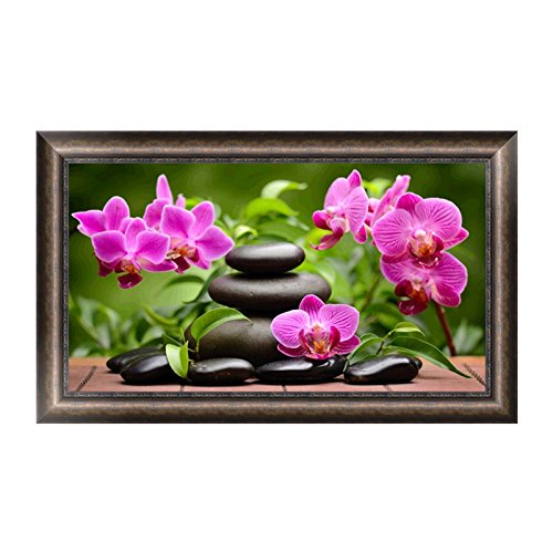 bloomingjs DIY 5d Orchid Flowerダイヤモンド刺繍ラインストーンペイントクロスステッチ装飾 B076QBZ5YQ