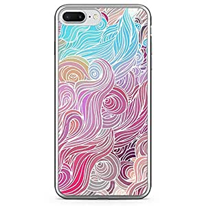 Loud Universe iPhone 7 Plus Transparent Edge Case - Multicolor Hairs Swirl Pattern
