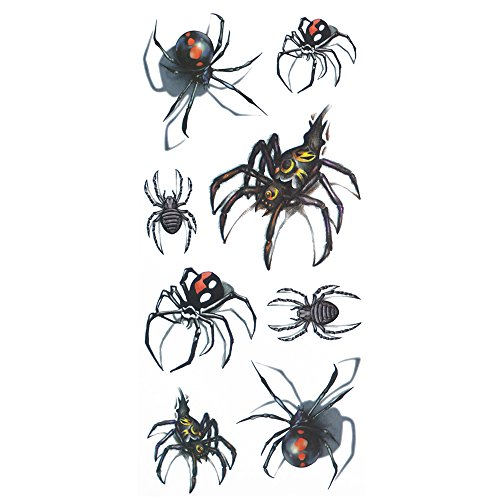 COKOHAPPY Temporary Tattoo , 3D Black Widow -