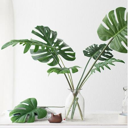 5-Kinds-Large-Artificial-Fake-Monstera-Palm-tree-Leaves-Green-Plastic-Leaf-Wedding-DIY-Decoration-Cheap-Flowers-Leaves-Plant